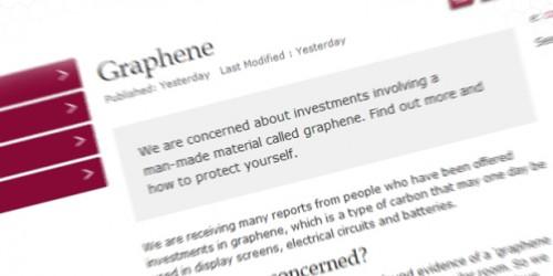FCA meent fraude in grafeen beleggingen